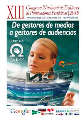 Cartel XIII Congreso Nacional de Editores de Publicaciones Periódicas 2018