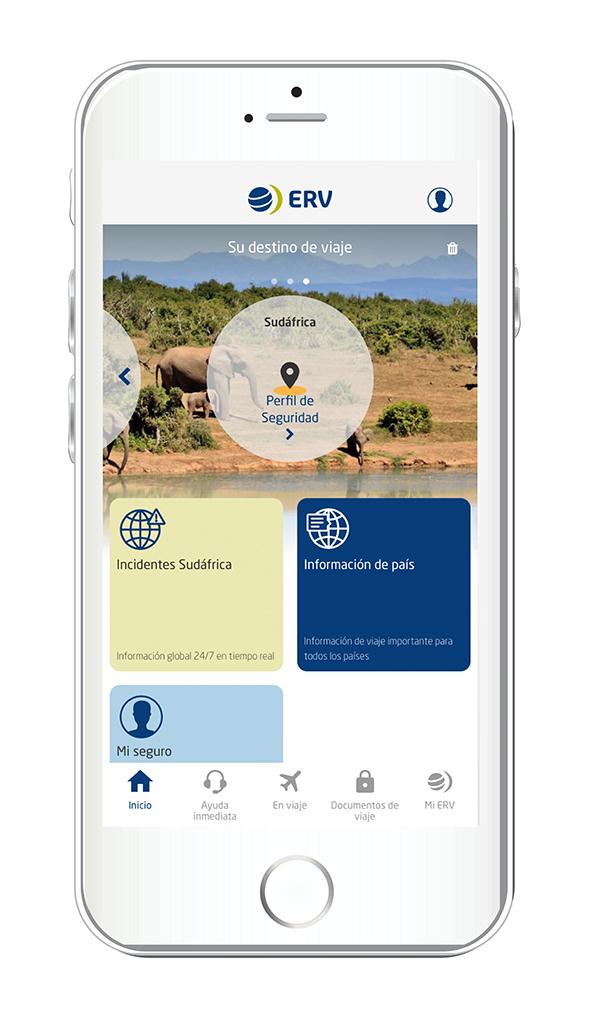 nuevas funcionalidades APP ERV Seguros de Viaje