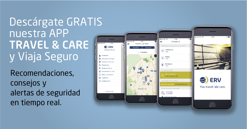 ERV lanza la App Móvil Travel&Care